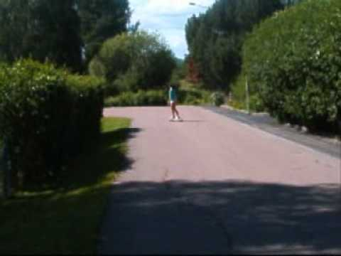 girl on longboard.