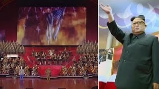 Video North Korean TV broadcasts music and missiles attacking US in video mock-up download MP3, 3GP, MP4, WEBM, AVI, FLV Juli 2017