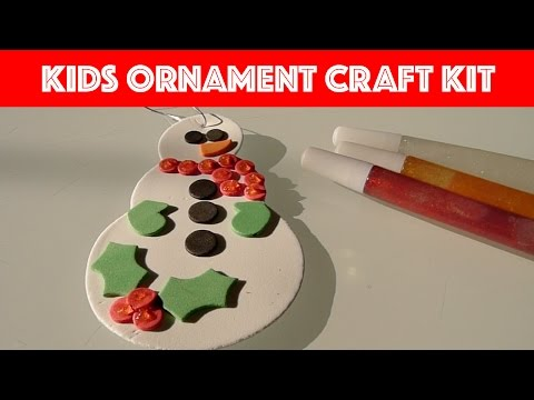 Unboxing Kids Christmas Ornament Craft Kit | Snowman & Snowflakes | Fun Times With Jade