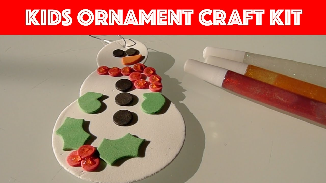 Christmas ornament craft kit - Unboxing Kids Christmas Ornament Craft Kit Snowman Snowflakes Fun Times With Jade