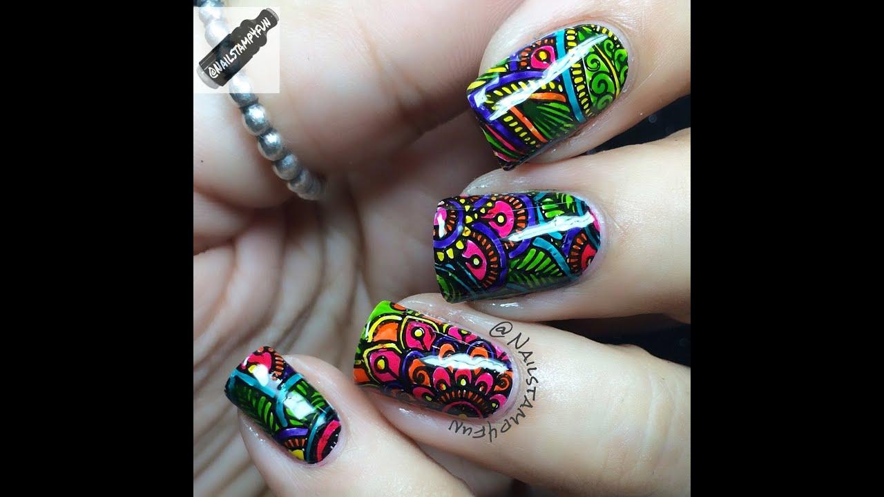 Nail Art Henna: How To: Henna Nail Stamping Plate