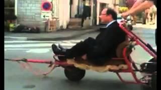François Hollande en traîneau