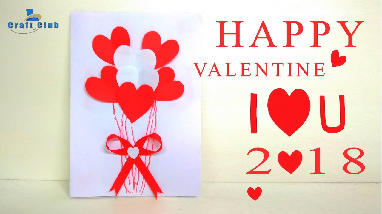Happy Valentine Heart Card 2018 Best Handmade Valentine Card 2018