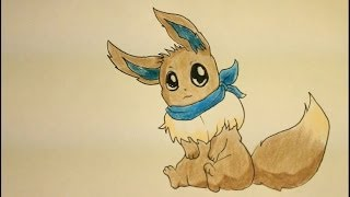 Pokemon Drawing Tutorials-How To Draw Eevee Easy