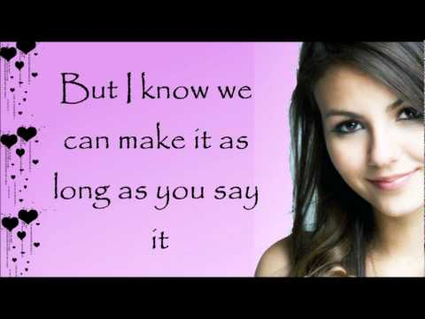 Victoria Justice - Tell Me That You Love Me Lyrics + Download Link