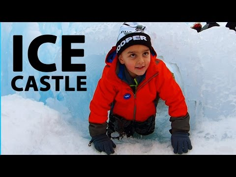 ICE CASTLES Adventure In Lincoln, New Hampshire
