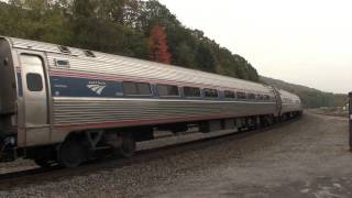 Amtrak Pennsylvanian train 42, 04T Juniata Terminal Cars Tyrone, PA 10/10/14