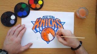 How to draw the New York Knicks logo