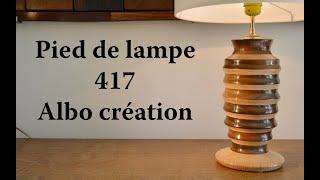 TOURNAGE PIED DE LAMPE CHENE ET IPE. 417