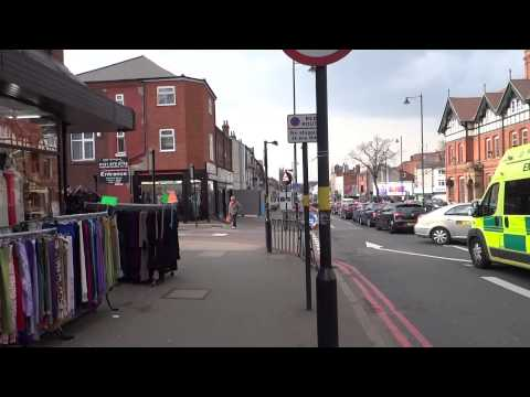 Walking Along Stratford Road, Sparkhill District, West Midlands, Birmingham, (UK's Little Pakistan).
