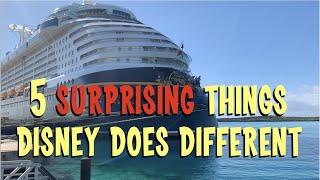 Disney Cruise Line - 5 Differences - Sunday Sofatime