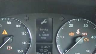 Mercedes C Class (W203) Service Light Reset 2000–2007
