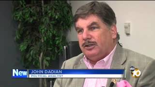 ABC10 news Political Analyst John Dadian on exclusive 10News/U-T San Diego poll