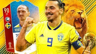WHAT IF ZLATAN WENT?! WORLD CUP IBRAHIMOVIC SWEDEN SQUAD! FIFA 18 ULTIMATE TEAM