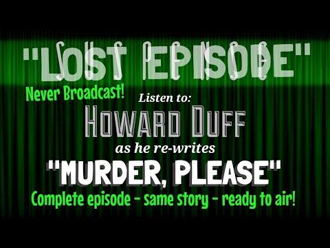 """NEW"" Episode! • Complete Program, NEVER BROADCAST • SUSPENSE Starring HOWARD DUFF • HQ Audio"