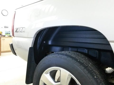 99-06 chevy silverado rear plastic wheel well liner install - fender liners  - youtube