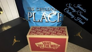 JUNIOR'S SPRING/SUMMER CLOTHING HAUL| CHILDRENS PLACE, VANS, DTLR