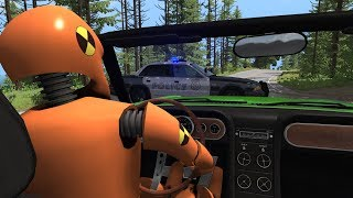 Crash Test Dummy - Police Pursuits | BeamNG.drive