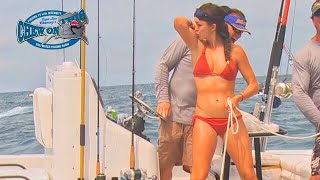 Beautiful Girl Fishing - Gulf Mexico - Amazing Hand Fishing - Hot Girl Fishing Grouper - Compilation