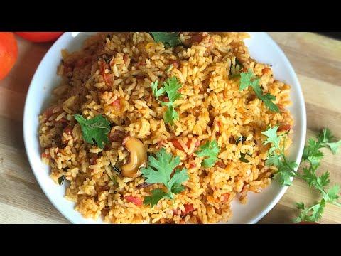 Instant tomato rice recipe tomato rice recipe lunch box recipes