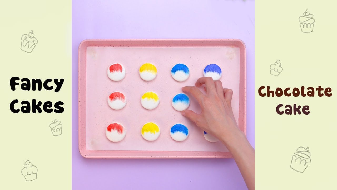 Pretty Painting Macaron Decorating Ideas #shorts