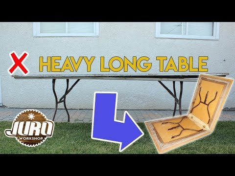 DIY Folding Table | How -to-table Heavy to Light to Folding | Easy DIY | JURO Workshop