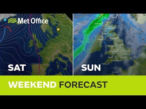 Weekend weather - Dry and cloudy for many, but parts of the west will get rain on Saturday