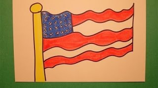 Let's Draw the American Flag!