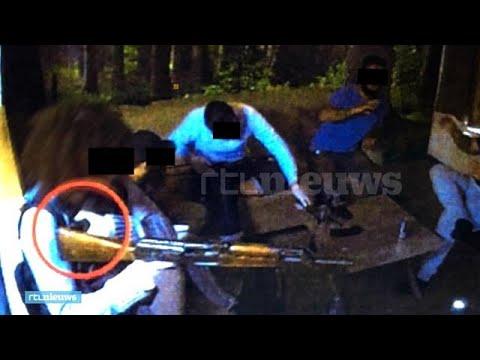 Onthullend beeld: terreurverdachten oefenen met wapens en bomvesten - RTL NIEUWS