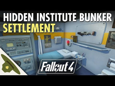 HIDDEN INSTITUTE BUNKER at Outpost Zimonja - Fallout 4 Brotherhood settlement tour & lore