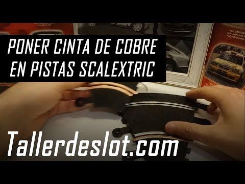 ▷ Poner cinta de cobre en pistas Scalextric 【Tutorial】 Colocación en rectas y curvas