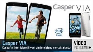 Casper VIA A6108 akıllı telefon video inceleme  2GHz Intel işlemcili ve HD ekranlı telefon