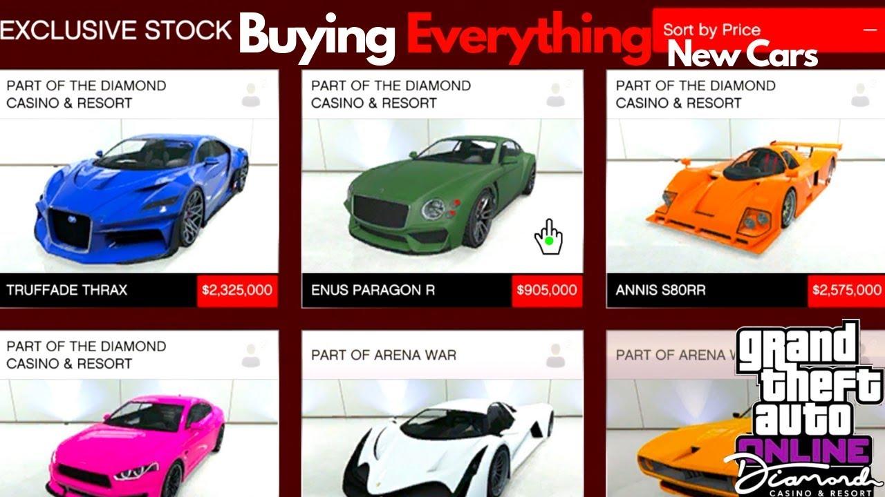 Buying ALL The Casino DLC Cars GTA 5 Online Diamond Casino