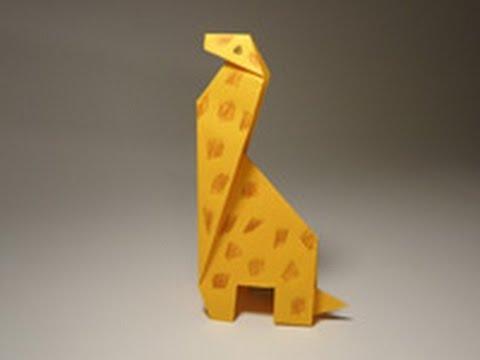 Жираф оригами схема для детей