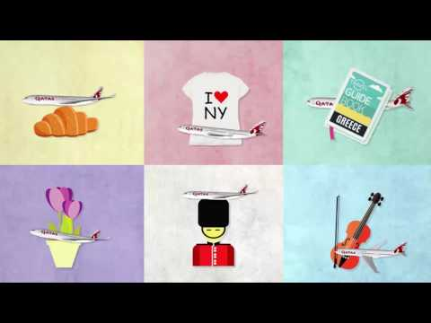 Qatar Airways Origami Airplane Creative Video