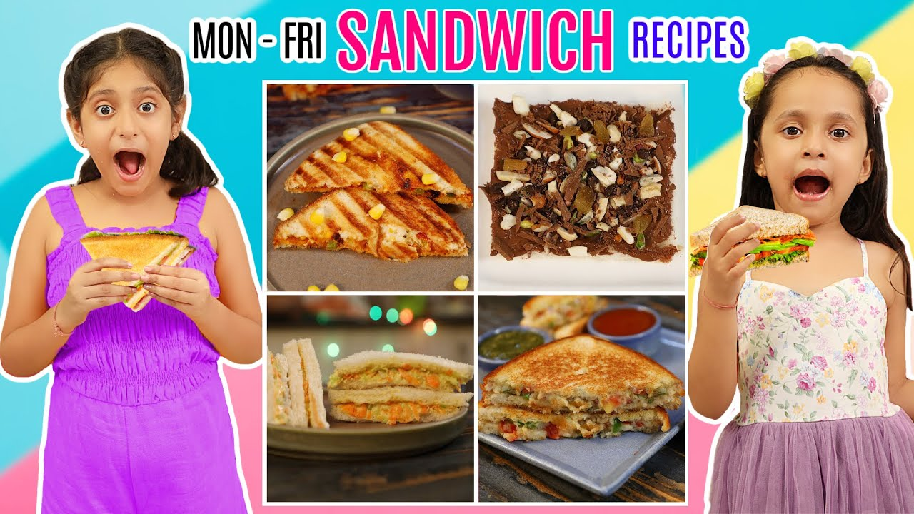 MONDAY To FRIDAY Yummy SANDWICH Recipes | CookWithNisha