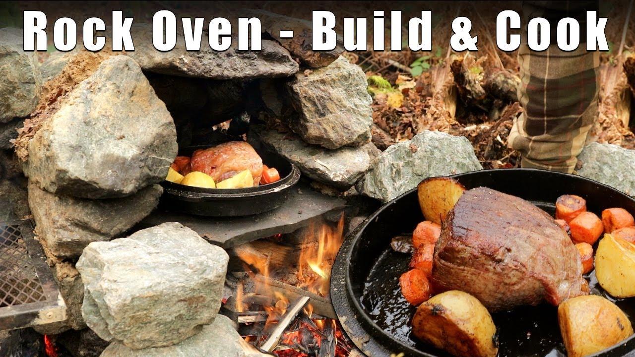 Primitive Rock Oven - Build & Cook