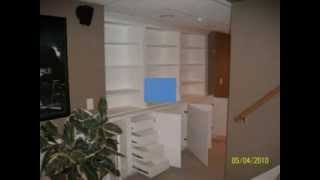 Custom Bookcases And Shelving By A Cut Above Carpentry