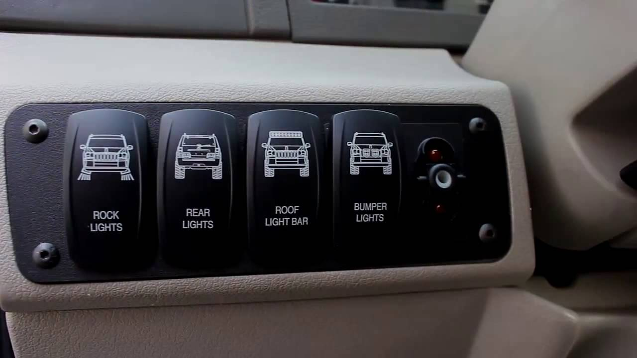 2013 Ford Upfitter Wiring Diagram The Steel Armadillo Auxiliary Lighting Switch Plate