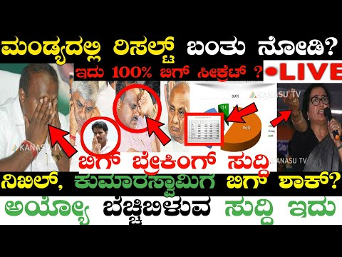Kannadanews: ಮಂಡ್ಯ ರಿಸಲ್ಟ್ ಬಂತಾ? Mandya election result, sumalatha mandya, Karnataka political news