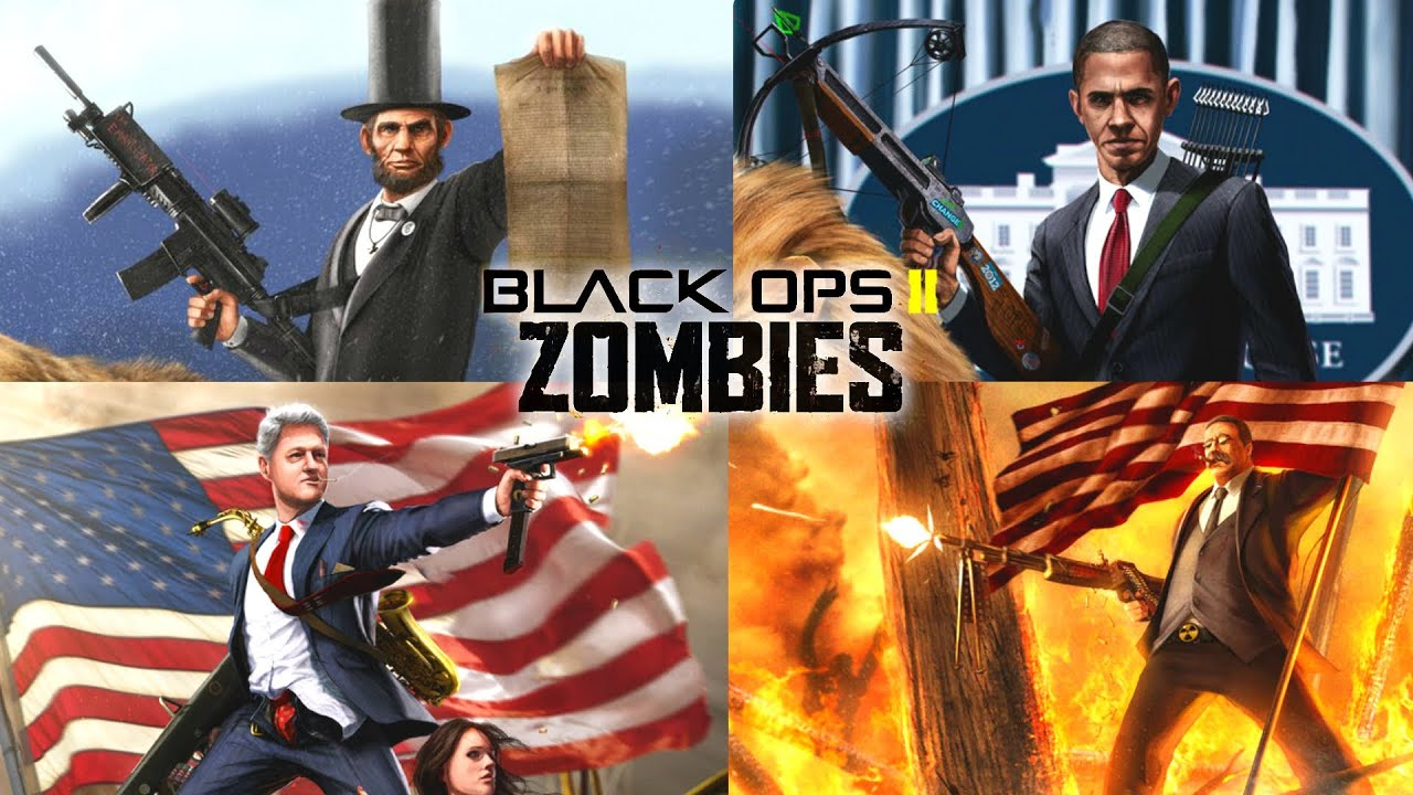 Black ops 2 zombies barack obama and presidents zombie map dlc five