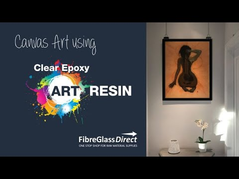Canvas Art Covered in Clear Epoxy Art Resin