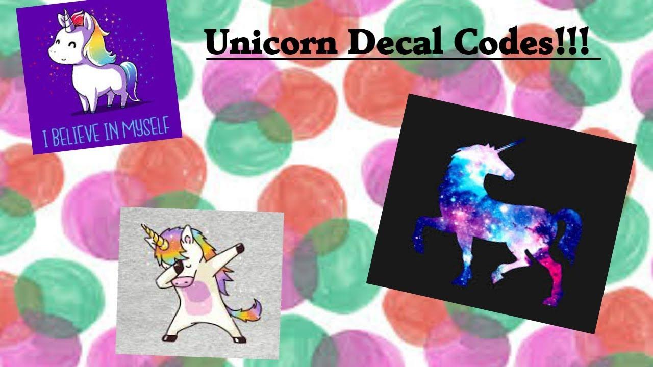 Welcome To Bloxburg Unicorn Decal Codes Youtube