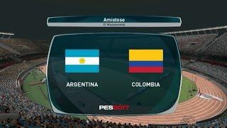 PES 2017 Pc Argentina vs Colombia eliminatorias Rusia 2018
