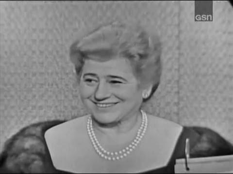 What's My Line? - Gertrude Berg; Martin Gabel [panel] (Oct 1, 1961)