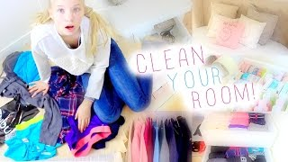 Cleaning My Room+Organization Tips!