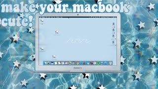 how to make your macbook cute/aesthetic. 🍓