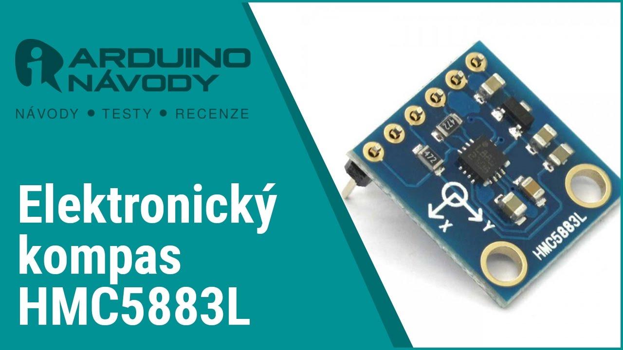 Arduino návody   Elektronický kompas HMC5883L