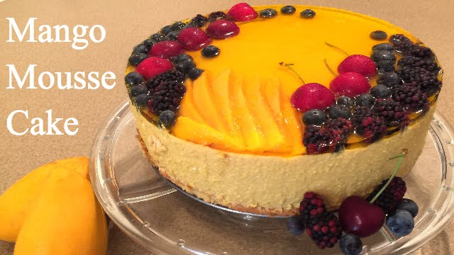 How To Make Mango Mousse Cake Video