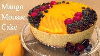 Mango Mousse Cake Recipe - How to make a Mousse Cake - Tasty Mouse Cake Recipe